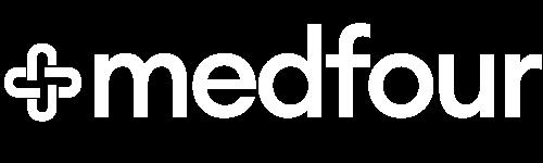 MEDFOUR AB Logotyp Original vit